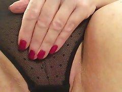 Close Up, Granny, Masturbation, Mature