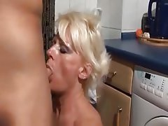 Cum in mouth, Doggystyle, German, Granny