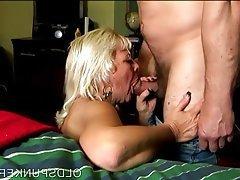 Mature, Cum in mouth, Granny, Mature