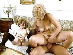 German, Granny, Old and Young, Threesome, Vintage