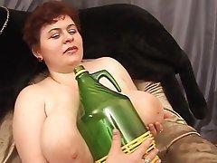 BBW, Dildo, Masturbation, Russian