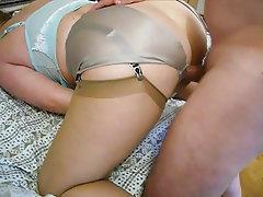 Lingerie, Mature, Stockings, Fucking