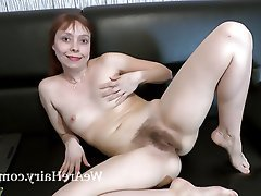 Hairy, Masturbation, Mature, Redhead, Russian