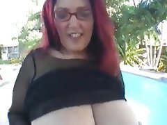 Big Boobs, Blowjob, Handjob, Mature, Redhead