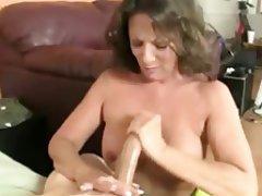 Cumshot, Granny, Handjob, Mature, Pornstar