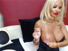 Blonde, Masturbation, MILF, Webcam