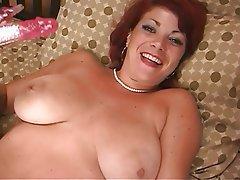 Masturbation, Mature, Redhead, Big Boobs
