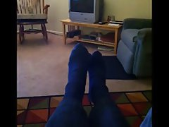 Foot Fetish, Masturbation, Mature, Stockings
