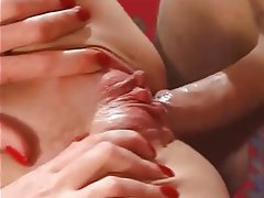 Brunette, Facial, Mature, Small Tits, Threesome