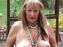 Blonde, Granny, Masturbation, Mature