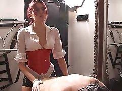 BDSM, Femdom, Redhead, Strapon