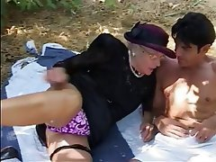 Blowjob, Facial, Granny, Blonde