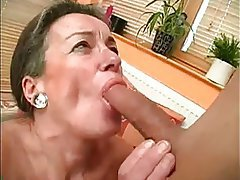 Blowjob, Cumshot, Granny, Hairy, Old and Young
