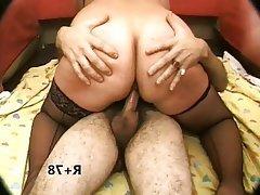 BBW, Double Penetration, Mature, MILF, Stockings