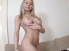 Babe, Big Boobs, Blonde, Casting