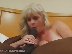 Blonde, Blowjob, Interracial, Mature