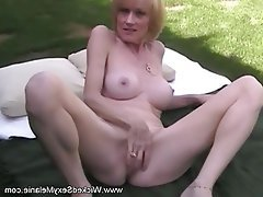 Amateur, Blonde, Facial, Granny